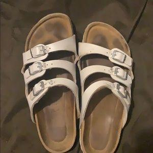 Size 39 white Birkenstock's